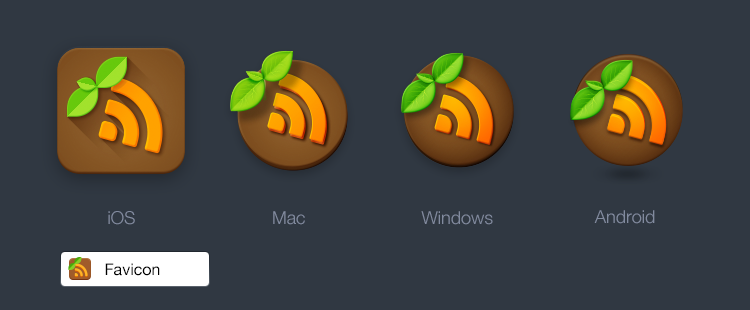 Earth Reader icons